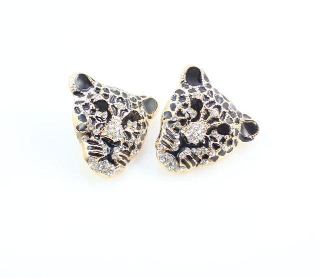 Купить модный браслет с головой леопарда серьги ожерелье кольцо набор картинки