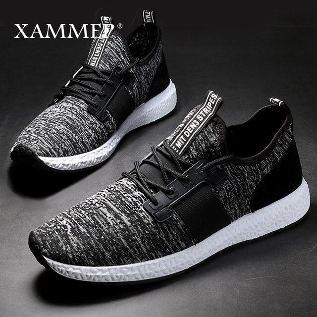 Кроссовки Xammep мужские сетчатые, повседневные брендовые сникерсы на плоской подошве, лоферы без застежки, дышащие, большие размеры, весна осень