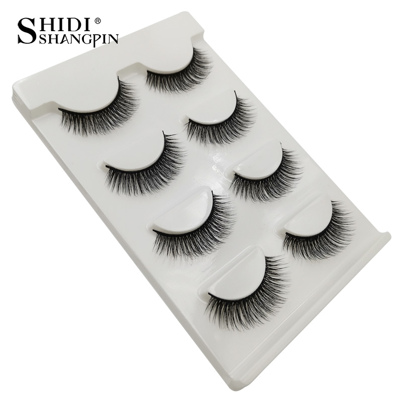 HTB1wHcnaIvrK1Rjy0Feq6ATmVXaO Natrual long 3D Mink False Eyelashes wholesale 4 pairs Fluffy Make up Full Strip Lashes 3D Mink Lashes faux cils Soft Maquiagem