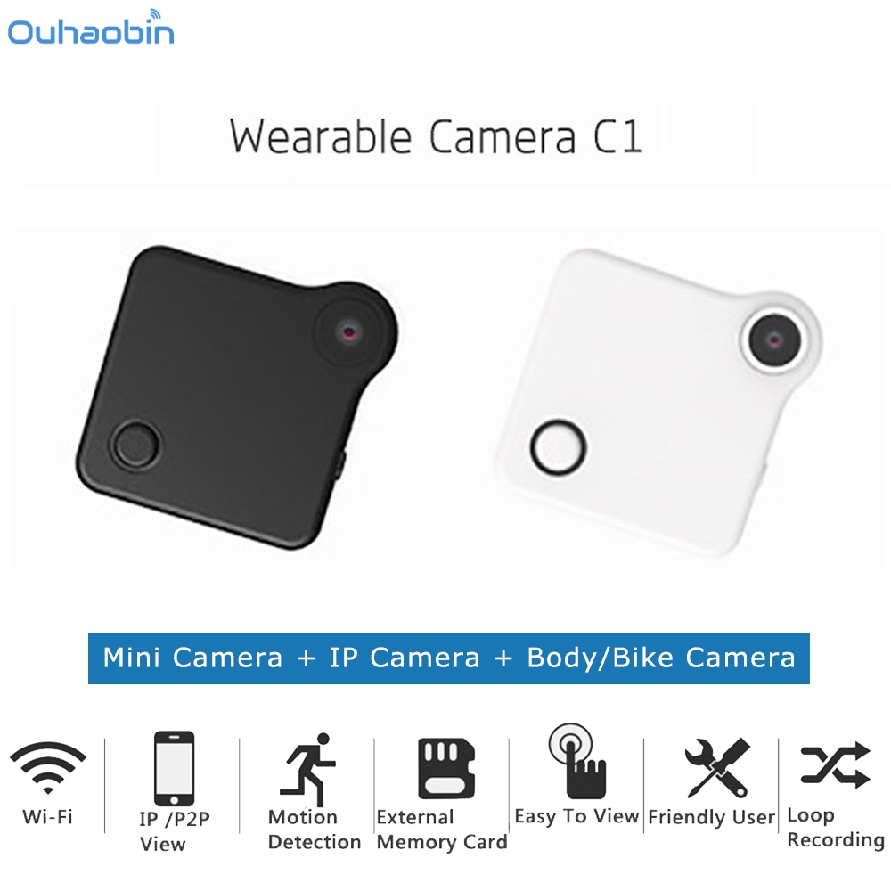 Ouhaobin Mini Camera 720P HD WIFI P2P Wearable IP Camera Micro Motion Sensor Camcorders Sport Cam DV Clip Video Recorder Dec13 цена
