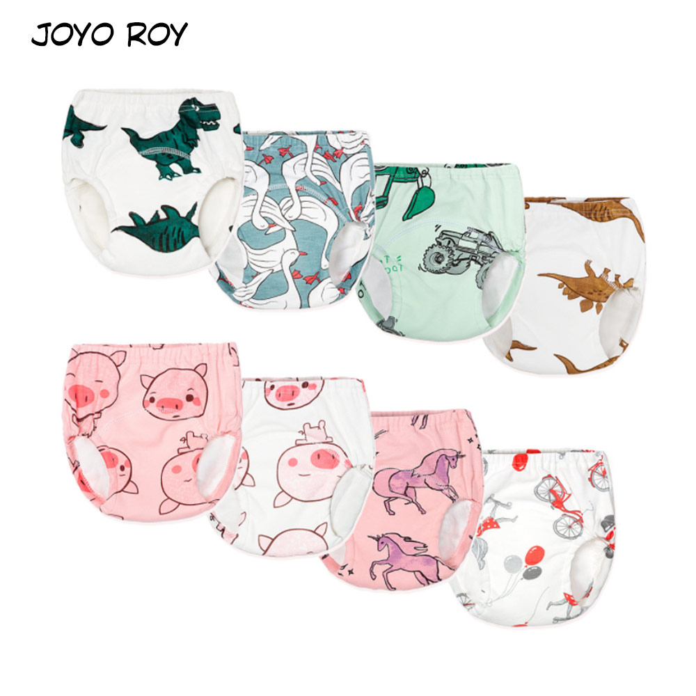 Joyo Roy Cotton Cloth Diapers Baby Training Pants Nappies Cartoon Boys Girls Underwear For Toddler Panties Diapers Cover 6-22kg
