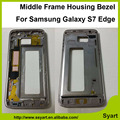 G935F Middle Frame Housing Bezel  Back Battery Cover Bezel Frame Mid Chassis For Samsung Galaxy S7 edge G935F