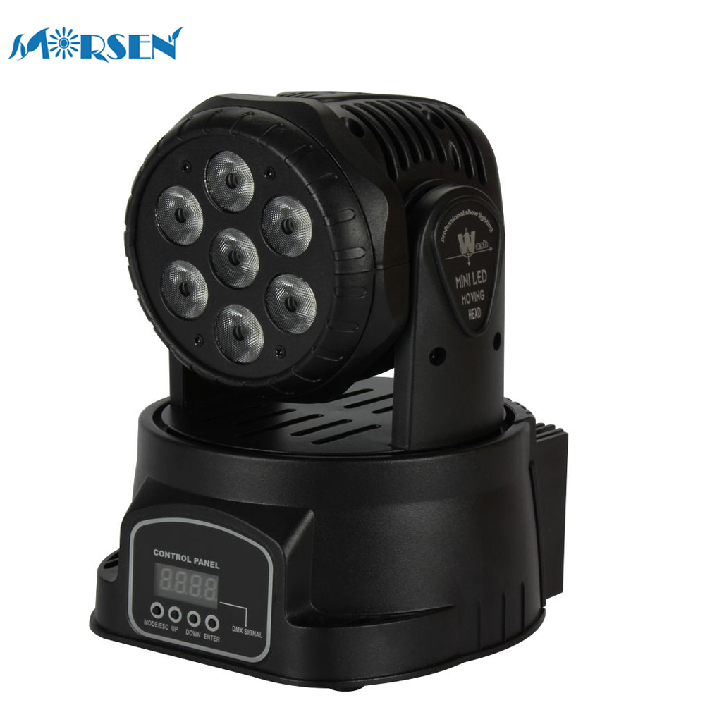 купить  1pcs Stage Light Effect DMX512 Moving Head Light Professional DJ /Bar /Party Show Stage Light 7 RGB LED Stage Machine *15#35  онлайн