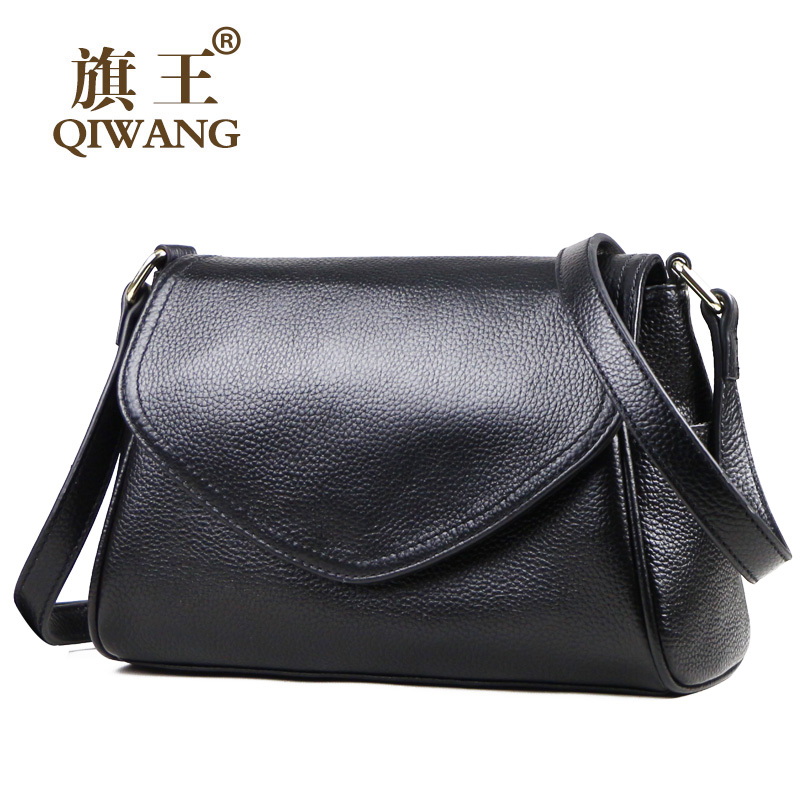 กระเป๋า Crossbody ขนาดเล็กสำหรับผู้หญิงของแท้หนังสีดำกระเป๋าสะพายกระเป๋าสะพายกระเป๋าถือแฟชั่นผู้หญิง Cowhide Lady กระเป๋า-ใน กระเป๋าสะพายไหล่ จาก สัมภาระและกระเป๋า บน   1