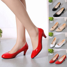 2018 Sexy Low heels shoes for women Nude Shallow Mouth Women Office Work Heels Shoes Elegant Ladies Low Heel dropshipping