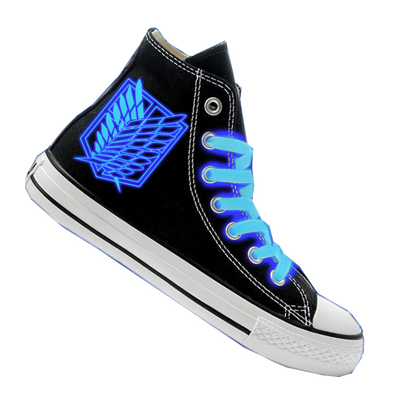 Cosworld Attack On Titan Cosplay Shoes High Platform Canvas Shingeki No Kyojin Shoes Board Luminous Shoes (3)
