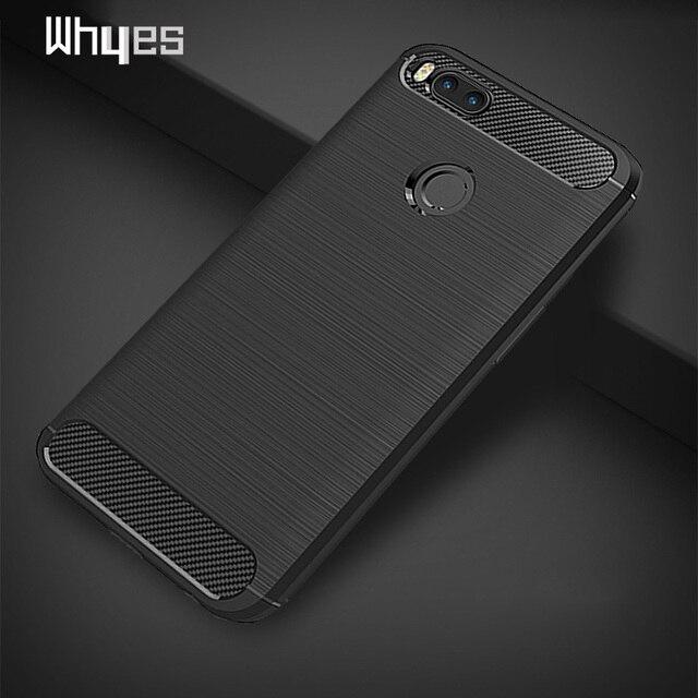 pretty nice 9e0e1 ee672 US $1.78 10% OFF|Whyes Soft TPU Cases For Xiaomi Mi A1 Case Xiaomi Mi5X  Carbon Fiber ShockProof Silicone Cover Case For Xiaomi MiA1 Mi 5X-in Fitted  ...