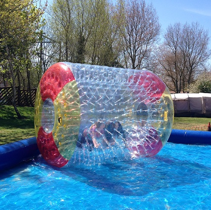 clear color inflatable roller ball on water water ball / Transparent infaltable water roll for kids and adults water game inflatable water spoon outdoor game water ball summer water spray beach ball lawn playing ball children s toy ball