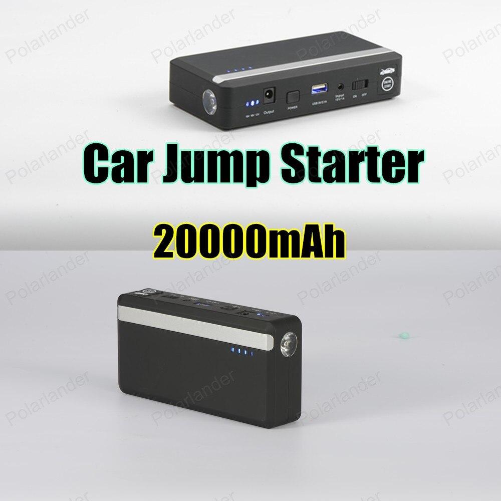 2016 Nouveau Mini Portable Démarreur Voiture De Saut Démarrage D'urgence 12 V 20000 mAh Moteur Multi-Fonction Puissance Banque Batterie chargeur
