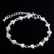 1Pc silver bracelet 925 solid silver fashion jewelry Flat Snake Bone Bracelet & Bangle(China)