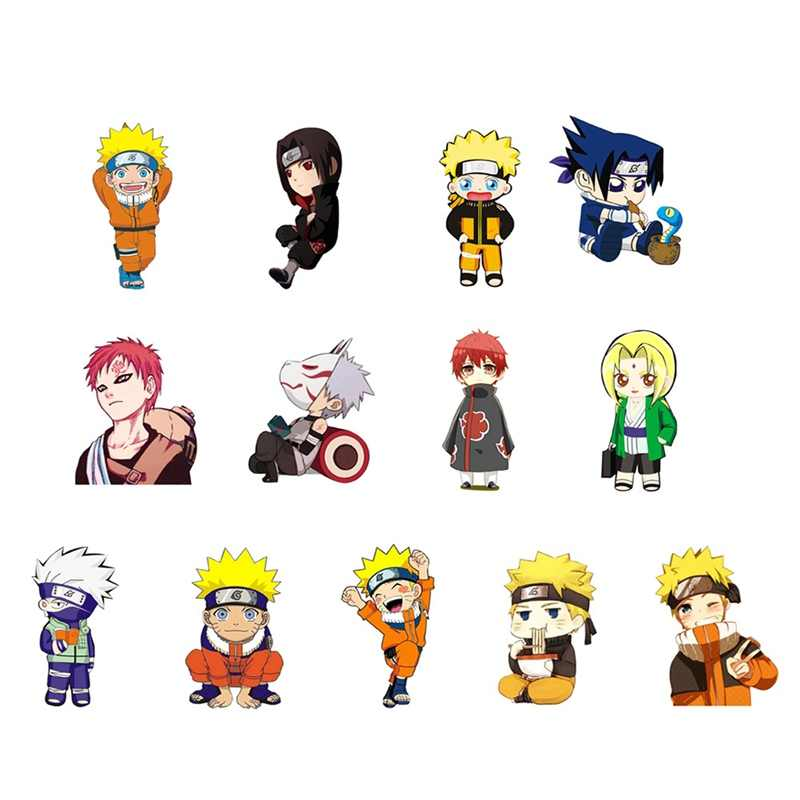 1pc Acrylic Brooches Cartoon Anime Naruto Sasuke Kakashi Brooches Backpack Student Clothes Brooches Pins Bag Decor Brooch Badges