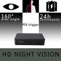 ZETTA Zir32 Невидимый ИК Сенсор Камеры Скрытого видеонаблюдения с 24 часовой аккумулятор и широкоугольный объектив HD ночного видения мини камера