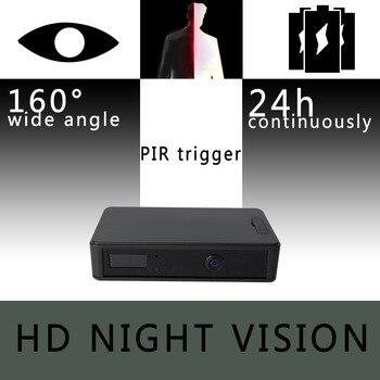 цена на ZETTA Zir32 Invisible IR Sensor Surveillance Camera with 24-hour battery and wide angle HD lens night vision cam mini dvr cctv