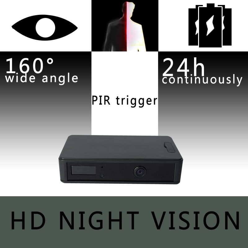 ZETTA Zir32 Invisible IR Sensor Surveillance Camera with 24-hour battery and wide angle HD lens night vision cam