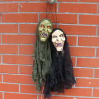 Halloween supplies Haunted House Bar KTV Decorative props Terror Toy Tricky scary luminous Kito Skull