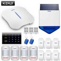 KERUI W1 аварийная сигнализация wifi GSM домашняя сигнализация безопасности комплект Беспроводной клавиатуры Rfid пульт дистанционного управления