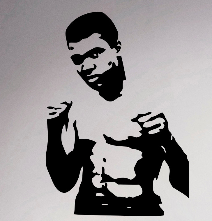 Aliexpress Com Buy Muhammad Ali Boxer Wall Decal Sport