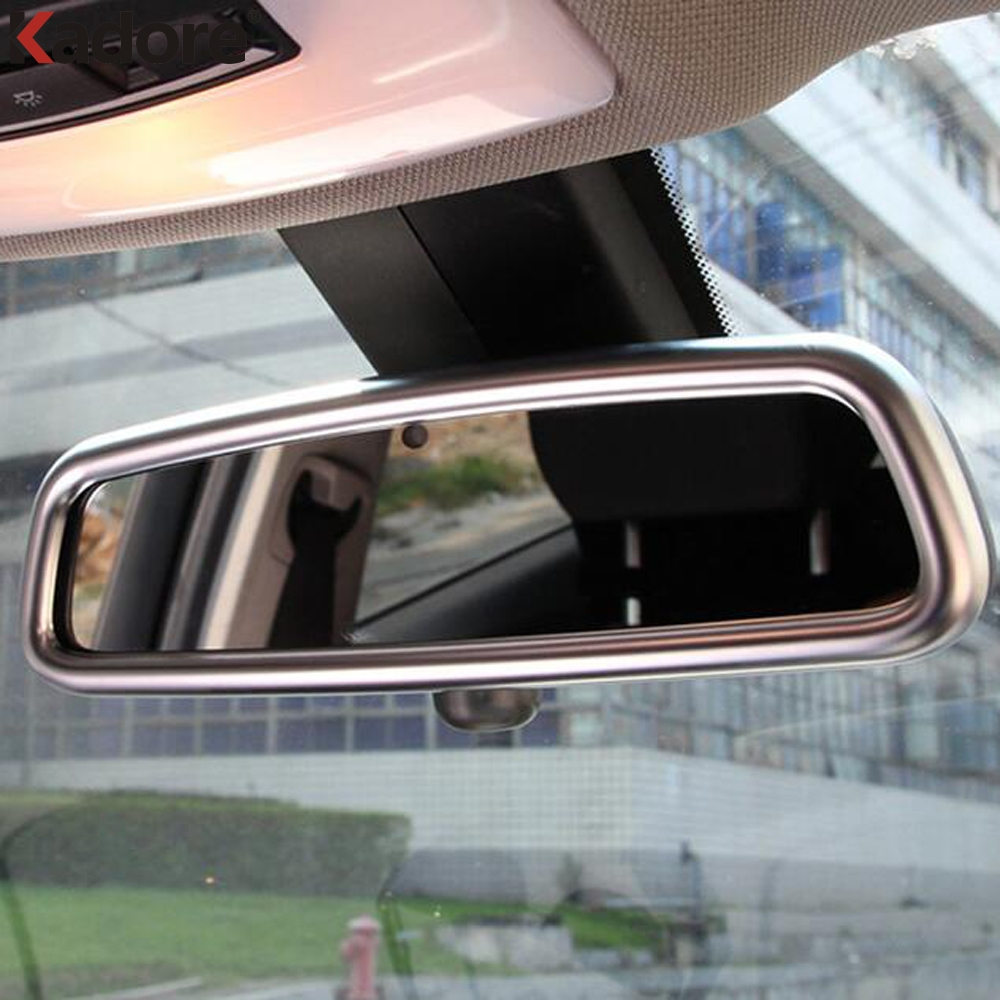 Car Interior Front Rear View Mirror Cover Trim Rearview