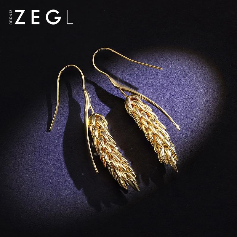 Image 3 - ZEGL Metal Earrings Earrings Earrings Pendant Earrings Women Earrings Leaf Earrings-in Drop Earrings from Jewelry & Accessories