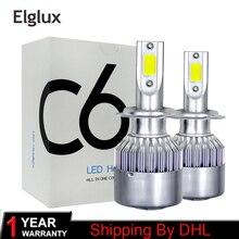 Доставка по DHL Led H4 7600lm 72 w светодиодные лампы фар авто H4 6000 k Led Super White Turbo для дальнего ближнего света лампы для фар