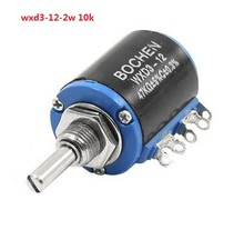 WXD3-12-2W Shaft Dia 10K Ohm Rotary side Multiturn Potentiometer WXD3