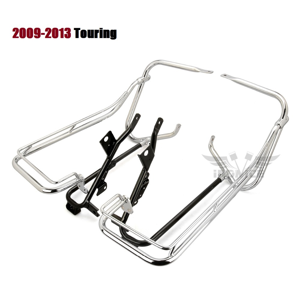 For Harley Saddlebag brackets guard bar Touring saddlebags