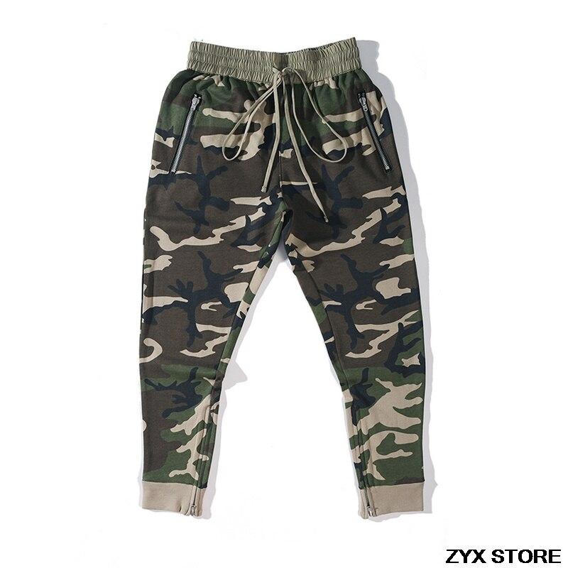 Meilleur Version La Peur De Dieu Pantalon 1:1 Pantalon BROUILLARD Intérieure Zipper Chinos Kanye West Camo Camouflage Pantalon Joggeurs Hommes Cargo pantalon