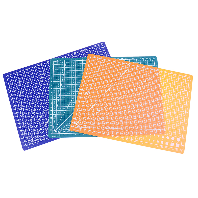 1PC A4 Grid Lines Cutting Mat Made With PVC Material For Salad And Vegetable Cutting 1