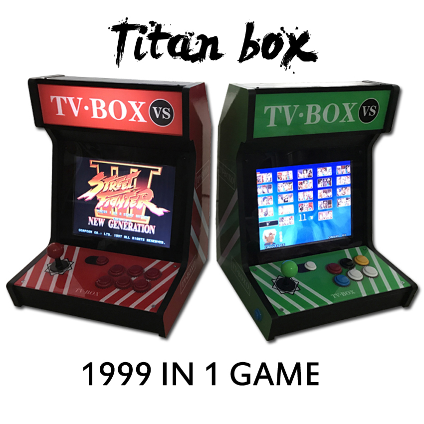 1999 in 1 Titan box 4: 3 Table top arcade machine  12 inch video games console with Game Cabinet 1999 in 1 jamma game board