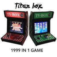 1999 in 1 Titan kutusu 4: 3 Masa üstü çarşı makinesi Oyunu ile 12 inç video oyunları konsol Kabine 1999 1 jamma oyun kurulu