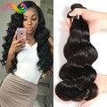 7a pelo stema onda del cuerpo brasileño paquetes armadura del pelo superior brasileño de la virgen del pelo 4 bundles queen hair products brasileña del cuerpo onda