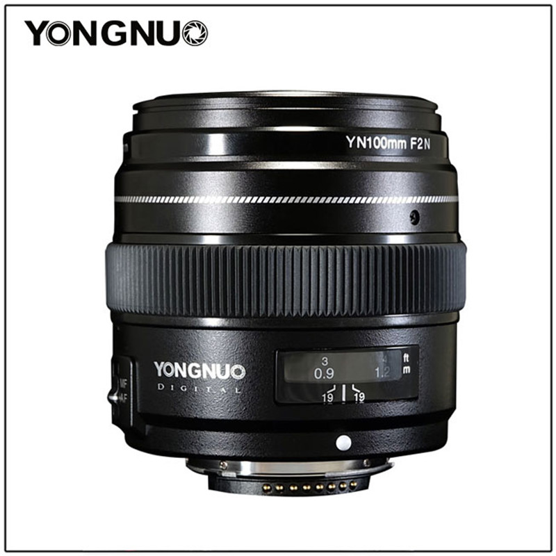 YONGNUO 100MM YN100mm F2N Large Aperture AF MF Medium Telephoto Prime Lens For Nikon D7200 D7100