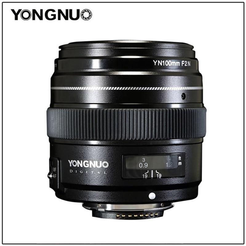 YONGNUO 100MM YN100mm F2N Large Aperture AF MF Medium Telephoto Prime Lens For Nikon D7200 D7100