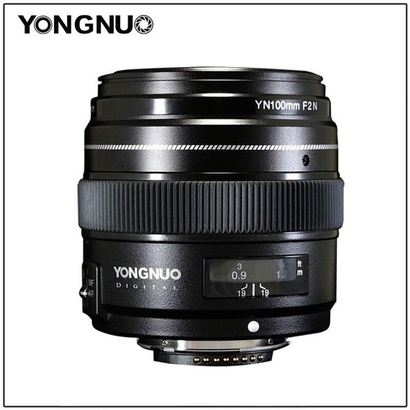 YONGNUO 100 MM YN100mm F2N grande ouverture AF/MF moyen téléobjectif Prime pour Nikon D7200 D7100 D7000 D5600 D5300 d3400 d3100