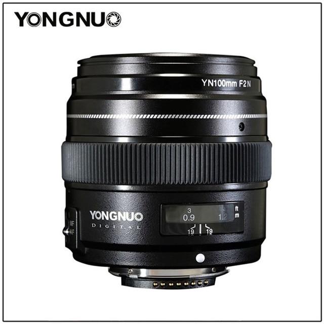 YONGNUO 100 มม.YN100mm F2Nขนาดใหญ่AF/MF Medium Telephoto Primeเลนส์สำหรับNikon D7200 D7100 D7000 D5600 d5300 D3400 D3100