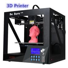 Новый Стиль Листового Металла Структуры Окно 3 D Принтер С Большой экран 235*200*200 мм Большой Размер 3D Принтер С Бесплатным 3D Печати Нити