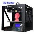 Nuevo estilo Sábanas caja de metal estructura 3 D impresora con pantalla grande 235*200*200mm gran tamaño 3D impresora con envío 3D filamento de impresión