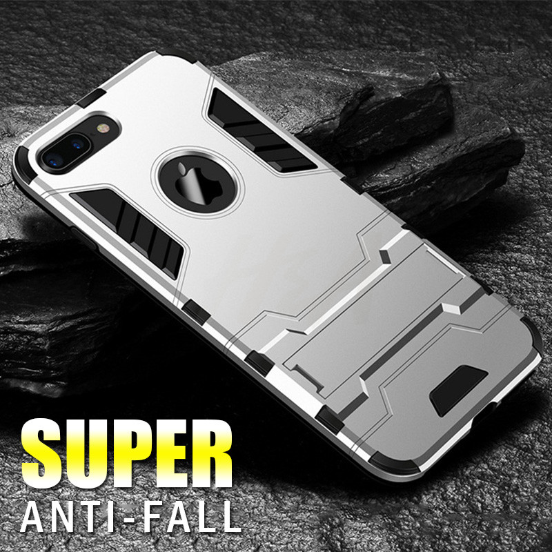 Shockproof Armor Phone Case For iPhone X 5 5s 6 8 7 Plus TPU + PC Protective Case 1