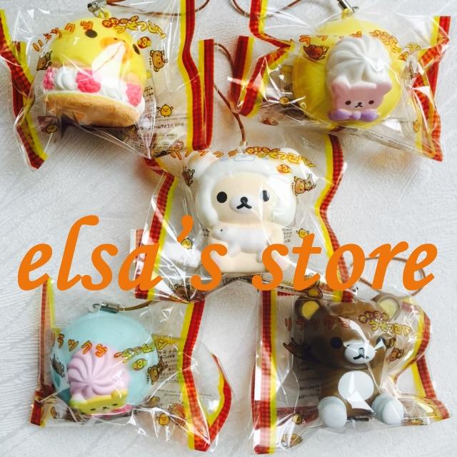 imágenes para Squishies 10 unids mixed lot kawaii rare blando rilakkuma blando encanto del teléfono colgante juguete PU TOKIO japón Envío Libre