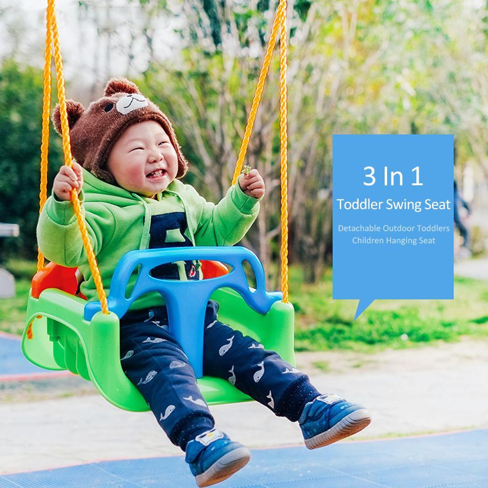 3 en 1 multifonctionnel bébé balançoire suspendu panier extérieur enfants balançoire siège jouet Durable arbre balançoire enfant en bas âge intérieur enfants chaise jouet