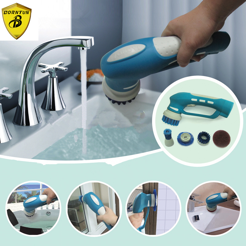 Washable Electric Kitchen Cleaning Brushes Cleaner Tool Plastic Sets Multi-function Rechargeable Handheld Electric Kitchen Brush