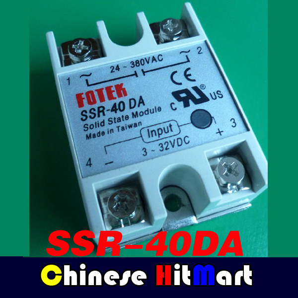 Wholesale 10pc solid state relay SSR-40DAlot solid state relay SSR-40DA 40A 3-32V DC TO 5-60 DC SSR 60DD relay solid state #J239