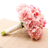 Free Shipping Beautiful Wedding Bouquet All Handmade Bridal Flower Wedding Accessories Bouquets Artificial Pearls Flower Rose