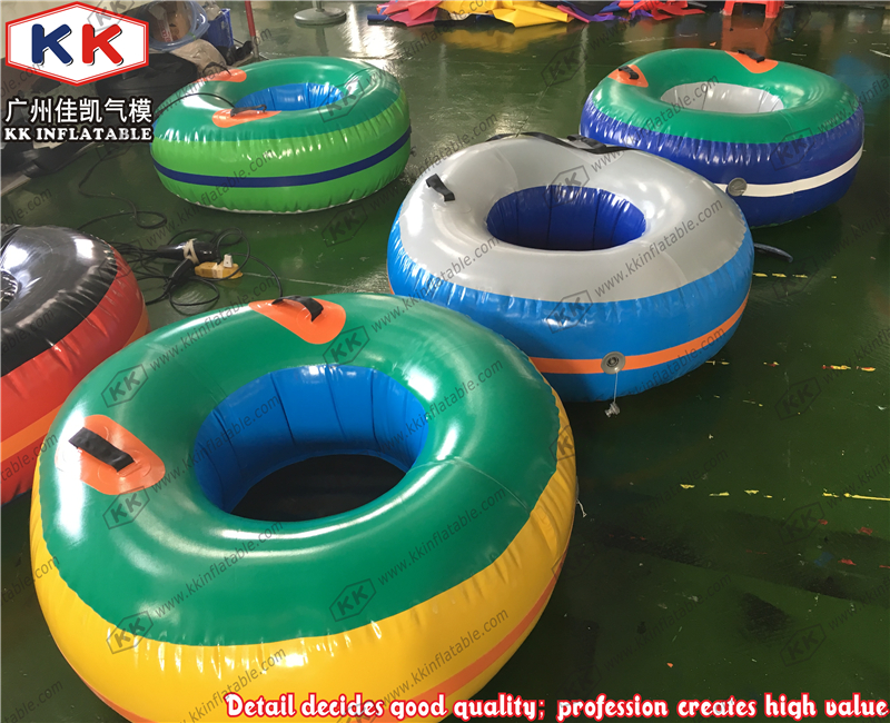 Inflatable snow tube Inflatable snow skiing sledge towable water Skiing circle ...