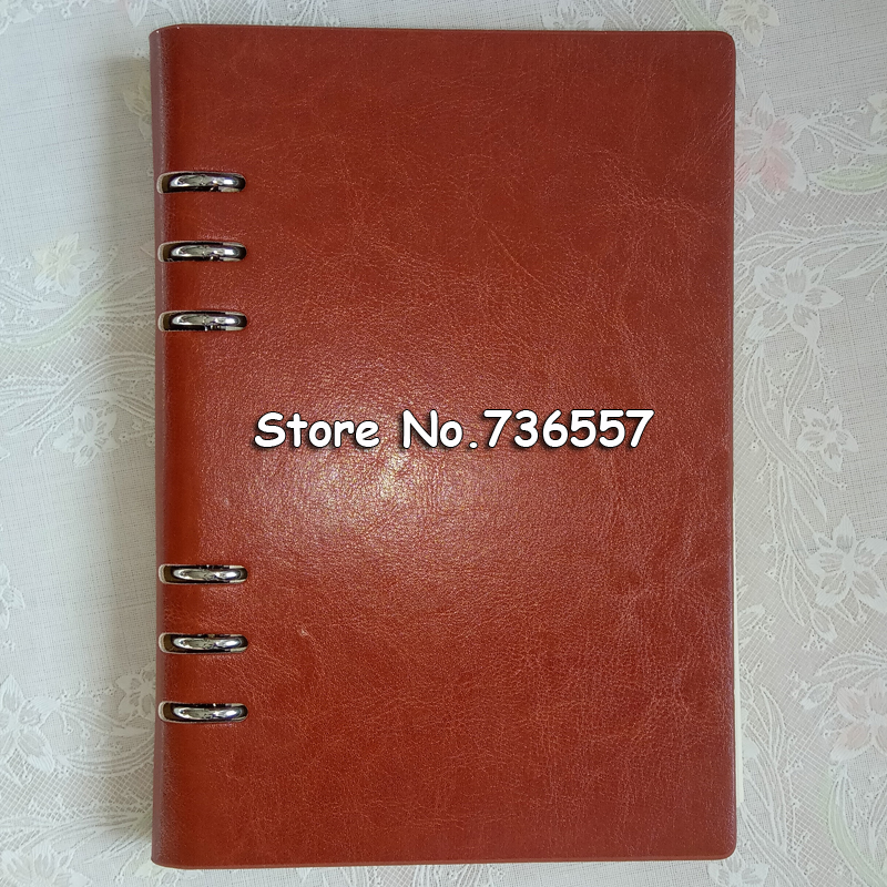 Faux Leather Notebook A5 A6 B5 A4 Big Spiral Notebook Planner Agenda Organizer Hard Cover Business Note Book Stationery