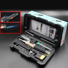 10 in 1 Soldering Iron Kit Automatic Ignition Butane Cordless Welding Torch Tools Kit Electric Gas Soldering Set Blow Torch Pen недорого