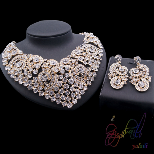 cobwebbing jewelry set white crystal collection jewellery sets wedding dress accessory for bridalcobwebbing jewelry set white crystal collection jewellery sets wedding dress accessory for bridal