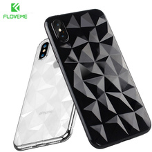 ФОТО floveme soft diamond pattern case for iphone 6s 6 7 8 plus silicone cases for iphone x 8 7 6 s plus luxury ultra thin back cover