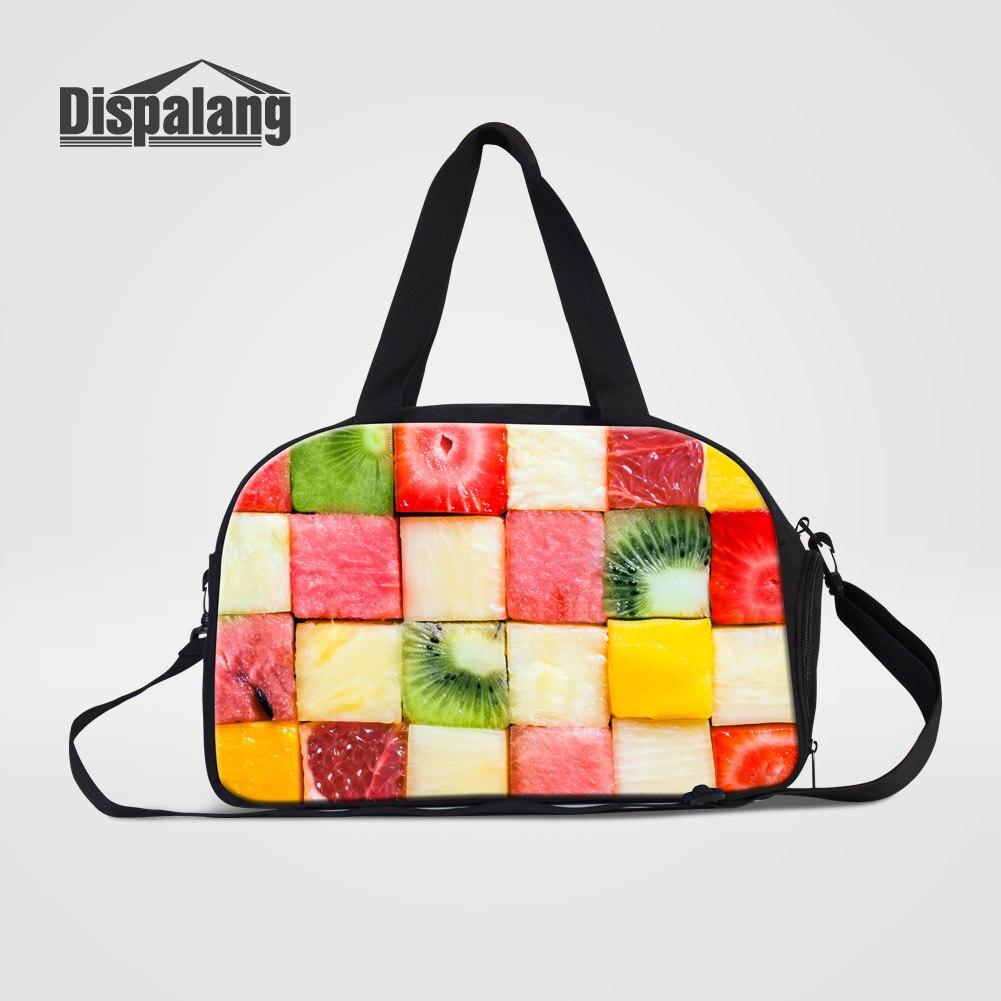 72380e1775 Dispalang lusso viaggio borse delle donne borsa da viaggio di notte frutta  design borsone per le ragazze portatile viaggio week end borsa in Dispalang  lusso ...