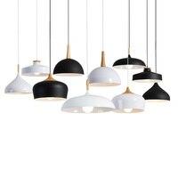 LED Pendant Lights Pendant Lamps Aluminum Hanglamp Suspension Luminaire Wood Hanging Lightings Kitchen Dining Living Room